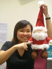 Santa dude & Kim Yan
