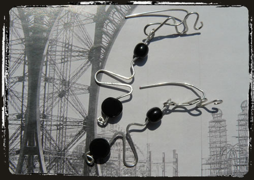 Orecchini neri - Black earrings ARHEWNE