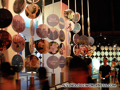 Round hanging pictures