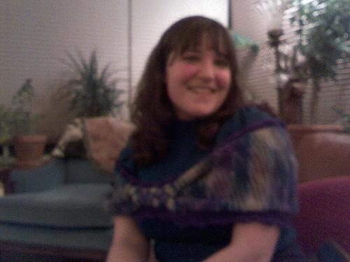 blurry Liz with wrap
