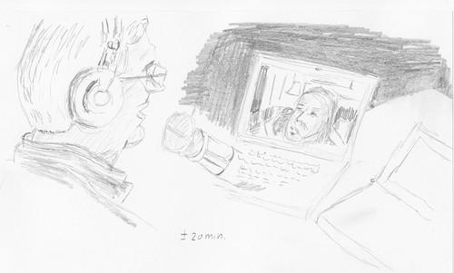 Drawing Leo Laporte and Sarah Lane - Net@Night