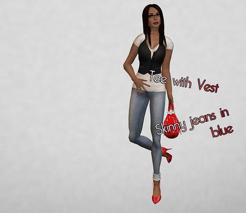 Laqroki Tee wVest + Skinny Jeans