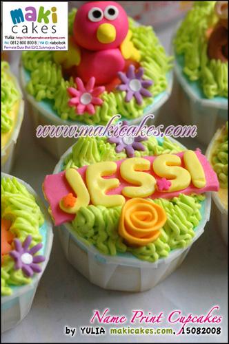 Name Print Cupcakes - Maki Cakes