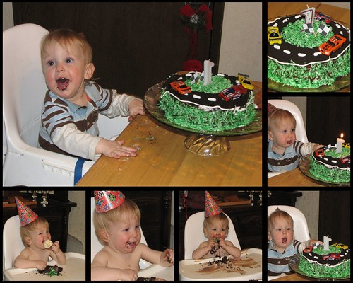 James' 1st Birthday Cake Collage