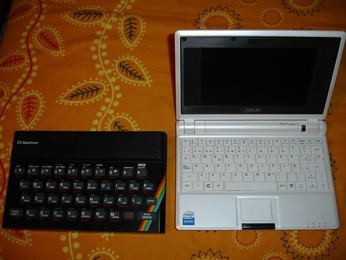Comparación con un Spectrum 48K