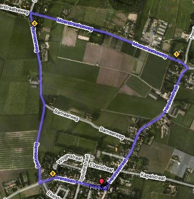 Parcours Kermisloop Heerle
