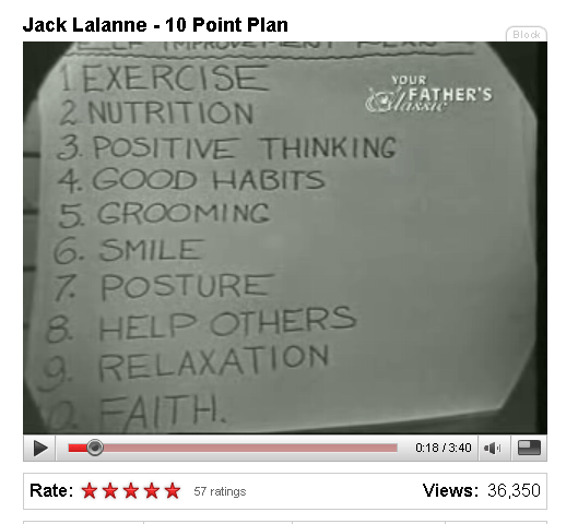 Jack LaLanne's 10 Point Plan