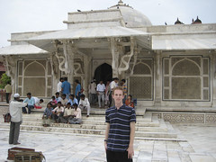 In front of the Tomb of Salim Chisti