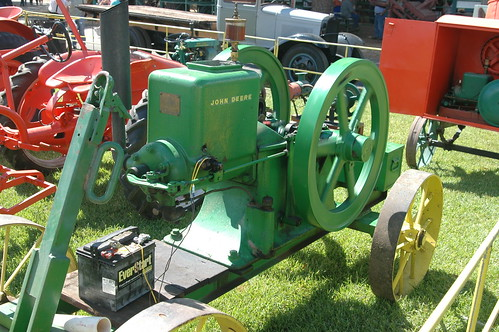 Gas burning tractor