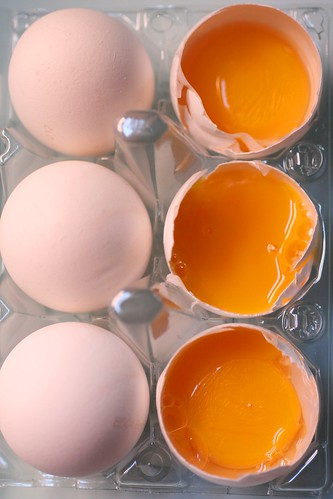 Eggs with yolks
