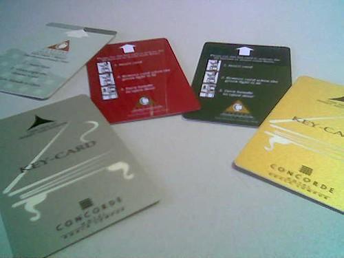 STP's hotel key cards 6