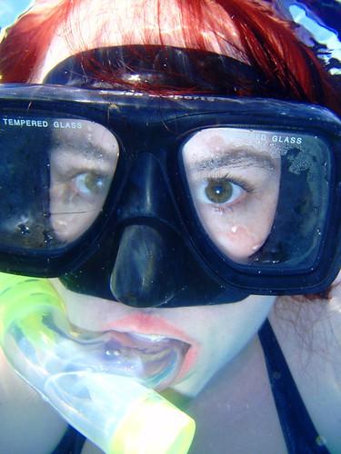 Underwater with Ariel hair