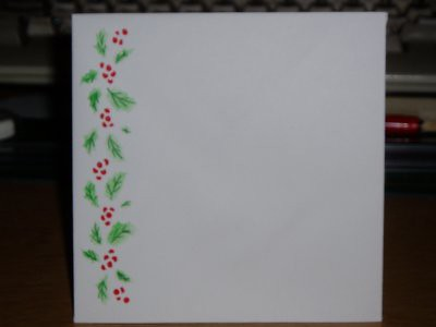 this is the envelope i decorated for the card above