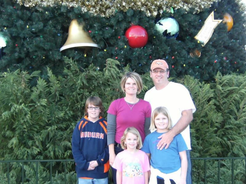 Fam at Epcot's Christmas Tree