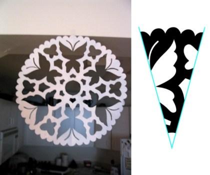 Paper Snowflakes! via @paper_kawaii