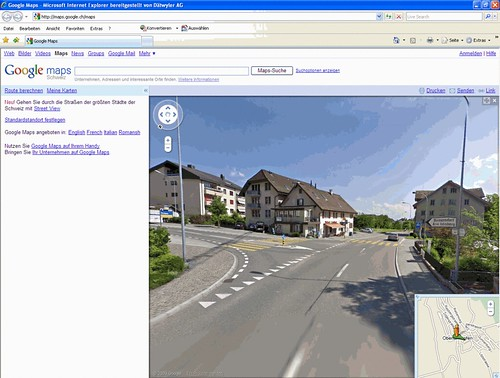 Google-Streetview Oberlunkhofen Schweiz