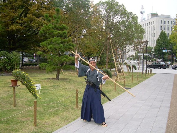 Un crack en los jardines del Castillo de Osaka-jo