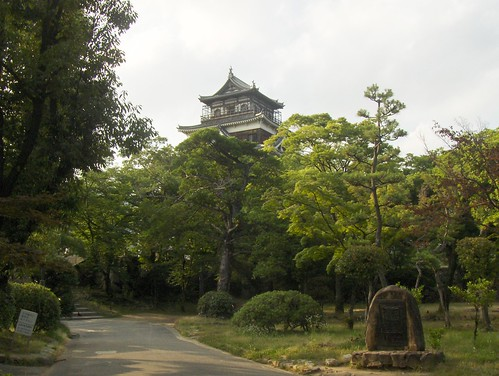 Long view of Hiroshima Castle, Hiroshima, Japan
