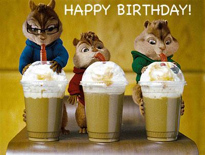 Birthday celebration - Chipmunks style!