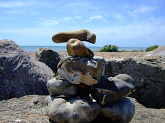 Aneap of stones