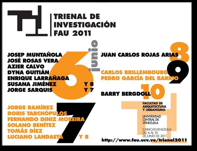 Inscripciones Trienal de Investigación FAU 2011 6al10/06