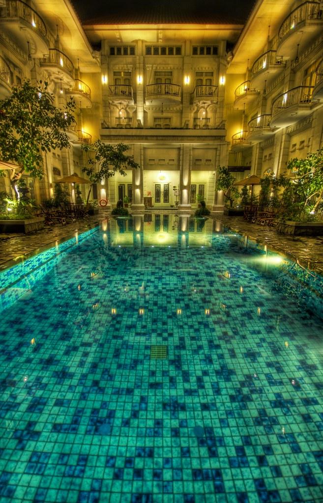 A Dip in the Glassy Pool