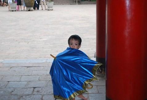 Niño en el Templo de la Literatura