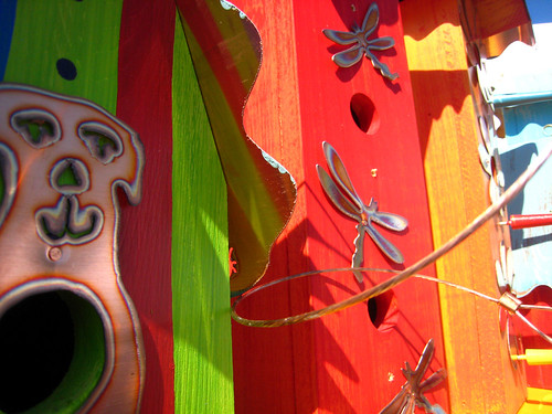 Art on the Avenue - fancy birdhouses