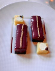 3rd Course: Toasts Brules d'Anguille