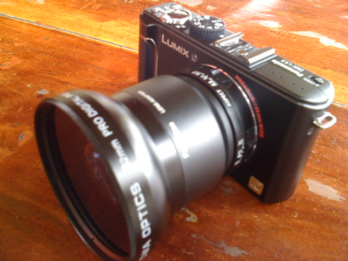 Lumix LX3 with Wide Lens Attached