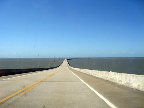 causeway leading to the mainland