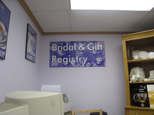Bed, Bath & Beyond Bridal Registry Dept!