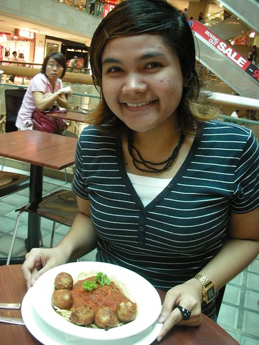 Yani with Her spaghetti