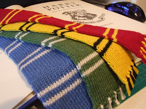 * House Scarf bookmarks!  Awesome!