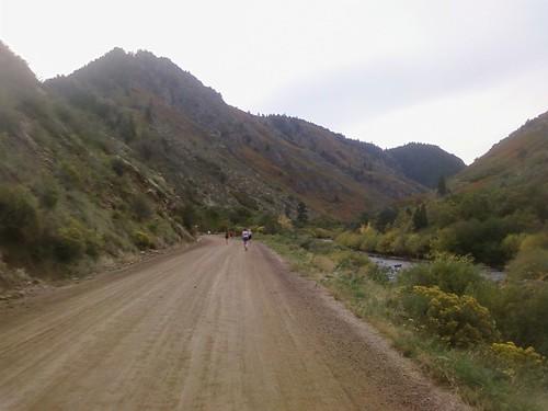 Nearing the 5 mile turnaround