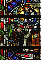 Our Lady gives the Rosary to St Dominic, by Lawrence OP