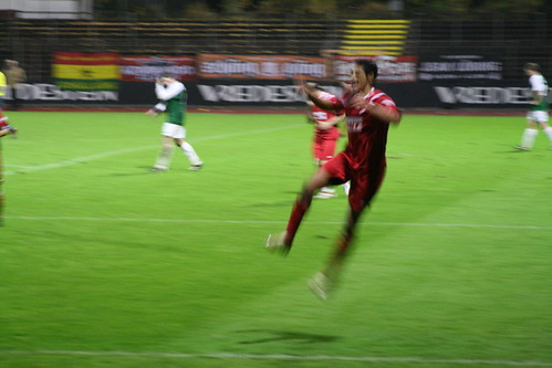Jubel nach Hamdi Dahmanis 4-0