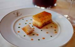 Dessert: Croquant de Pamplemousse Cuit et Cru