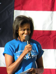 Michelle Obama honors US troops