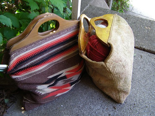 vintage knitting bags