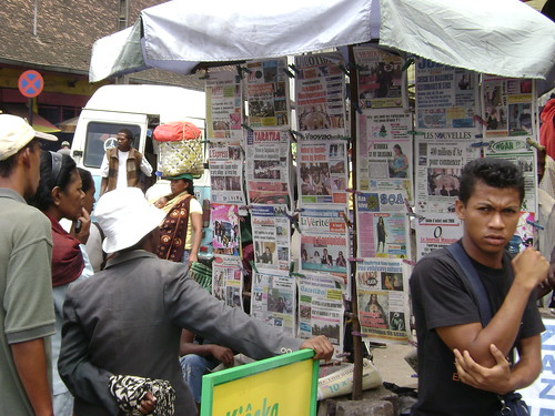 The old-fashioned newspaper still reigns in Madagascar.