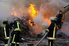 Großbrand Mülldeponie 01.09.08
