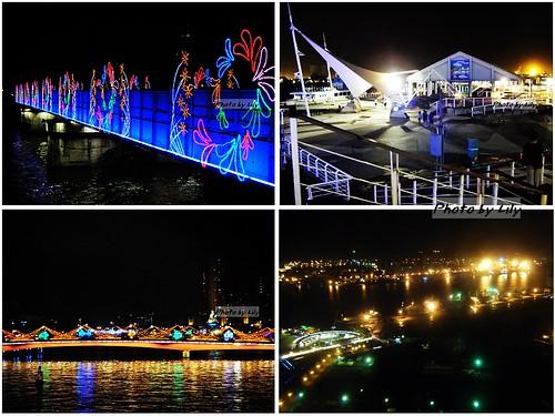 真愛碼頭附近的夜景。