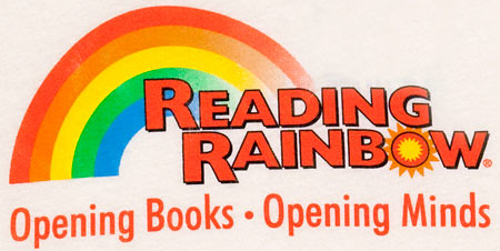 80s Tees Reading Rainbow TV Show Logo Beige T Shirt $24
