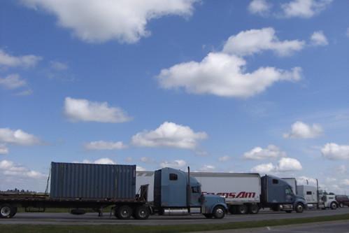 Trucks in Blue