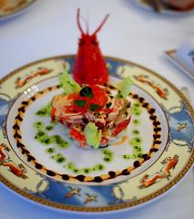 1st Course: Salade de Homard du Maine a la Parisienne