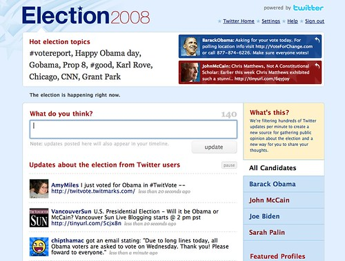 Election Day 2008 - Social Media