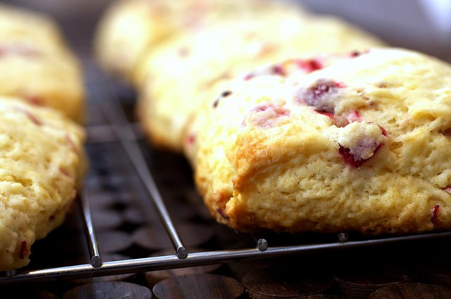 meyer lemon and cranberry scone