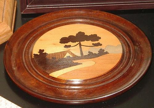 wood inlay for great grandma h