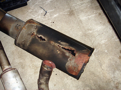 Rusted out old muffler